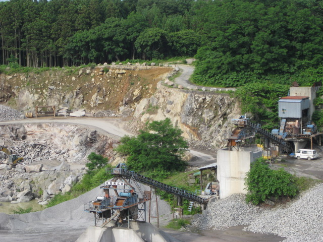 男鹿石 石切り場写真